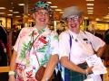 Nerdy zany shoppers entertain at the mall!