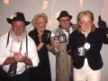 1940s reporters characters entertain at a corporate event