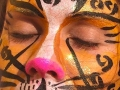 Golden cheetah face