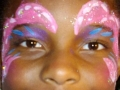 Sparkly pink around the eyes