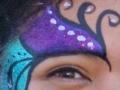Sparkly purple & teal design