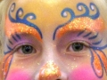 Sparkly pink & orange clown full face