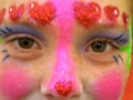 Heart clown sparkly full face