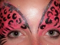 Pink cheetah eye design