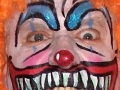 Scary adult clown face
