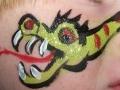 Dragon across the face