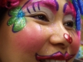 Clown face for Pasadena Rose Bowl parade