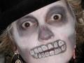 Scary gray skull face