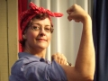 Katy as Rosie the Riveter
