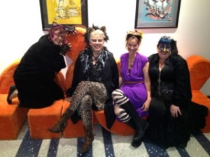 Katy, Cat, Jen, Hayley at Nick Halloween